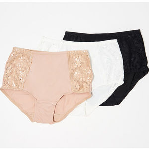 3 Breezies Soft Support Lace Panties Med NWOT P94